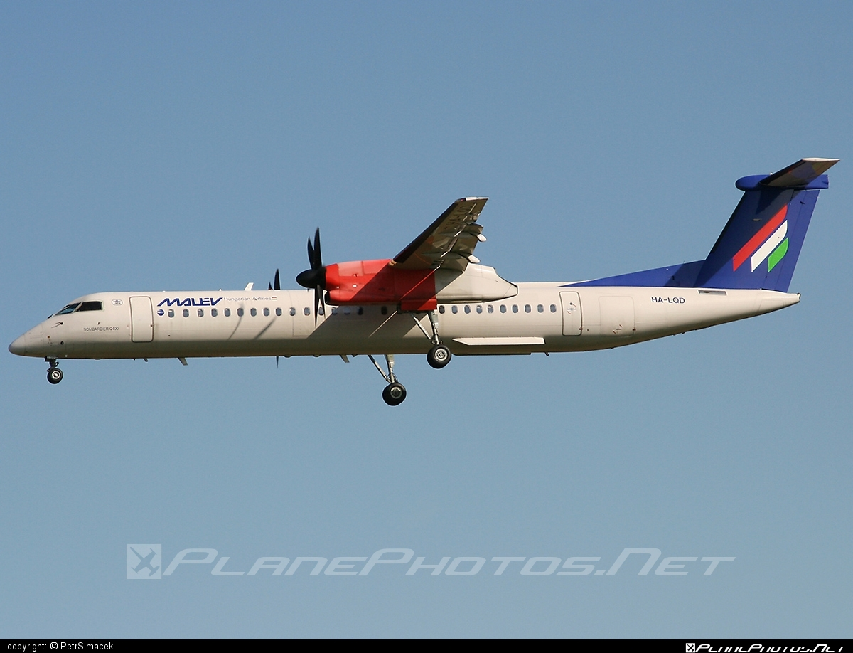 Bombardier DHC-8-Q402 Dash 8 - HA-LQD operated by Malev Hungarian Airlines #bombardier #dash8 #dhc8 #dhc8q402