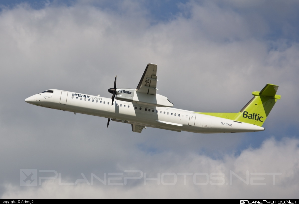 Bombardier DHC-8-Q402 Dash 8 - YL-BAX operated by Air Baltic #airbaltic #bombardier #dash8 #dhc8 #dhc8q402