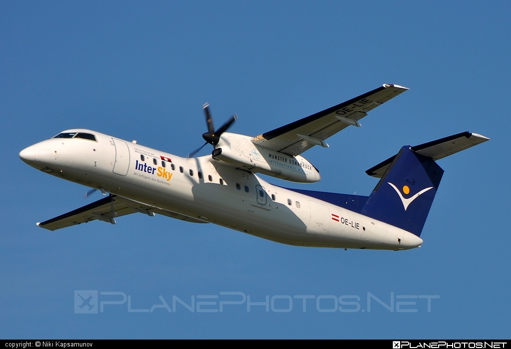 Bombardier DHC-8-Q315 Dash 8 - OE-LIE operated by InterSky #bombardier