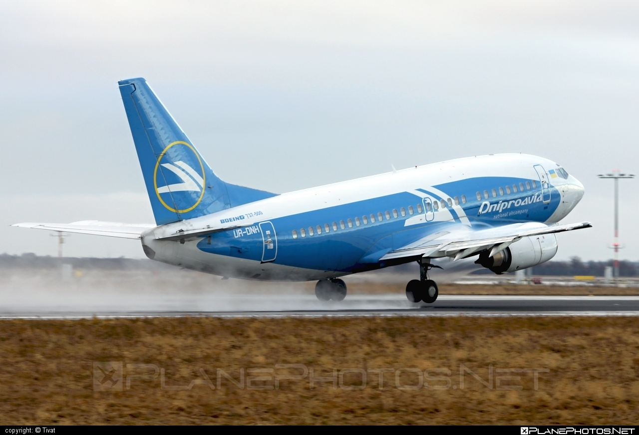 Boeing 737-500 - UR-DNH operated by Dniproavia #b737 #boeing #boeing737