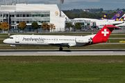 Fokker 100 - HB-JVG operated by Helvetic Airways