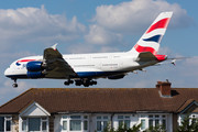 Airbus A380-841 - G-XLED operated by British Airways