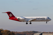 Fokker 100 - HB-JVH operated by Helvetic Airways