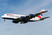 Airbus A380-841 - G-XLEL operated by British Airways