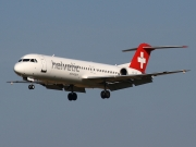 Fokker 100 - HB-JVF operated by Helvetic Airways