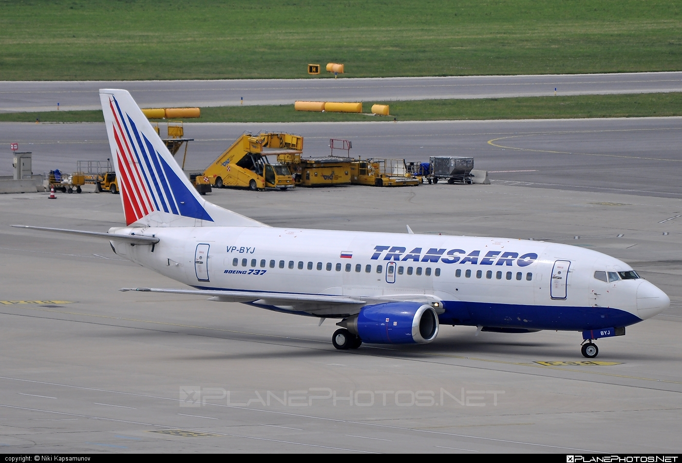 Boeing 737-500 - VP-BYJ operated by Transaero Airlines #b737 #boeing #boeing737