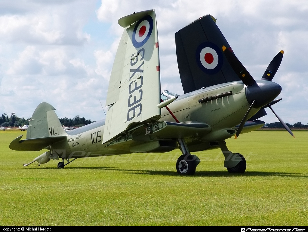 Supermarine Seafire F Mk.XVII - G-KASX operated by Private operator #supermarine
