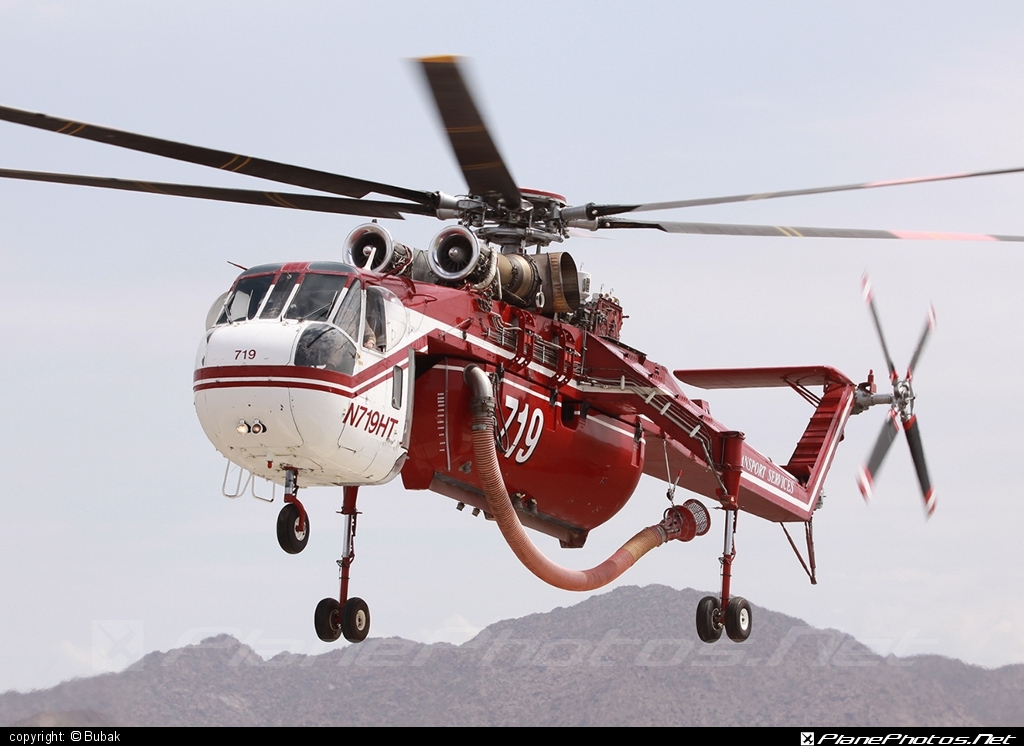 Sikorsky CH-54B Tarhe - N719HT operated by Helicopter Transport Services #sikorsky