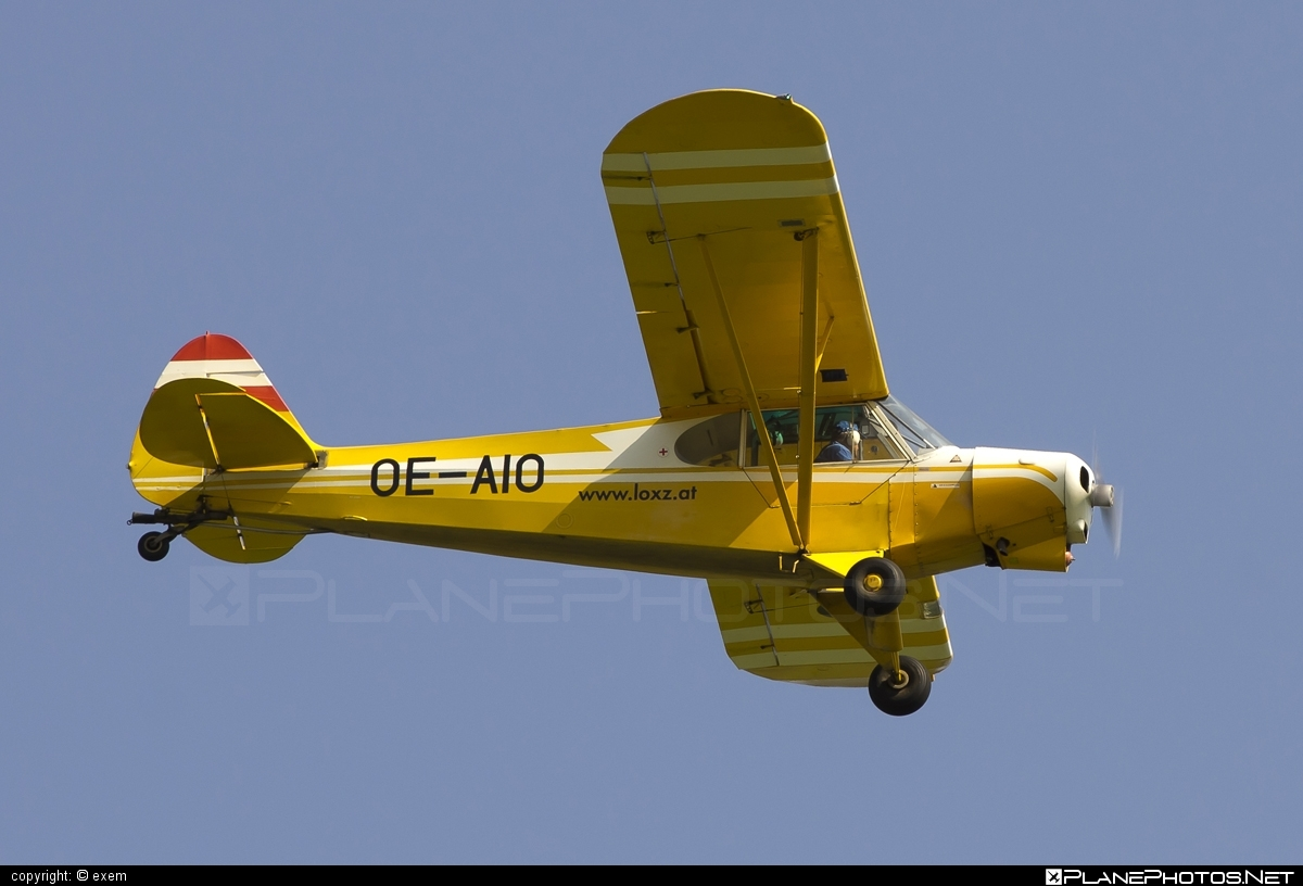 Piper PA-18-180 Super Cub - OE-AIO operated by Private operator #piper