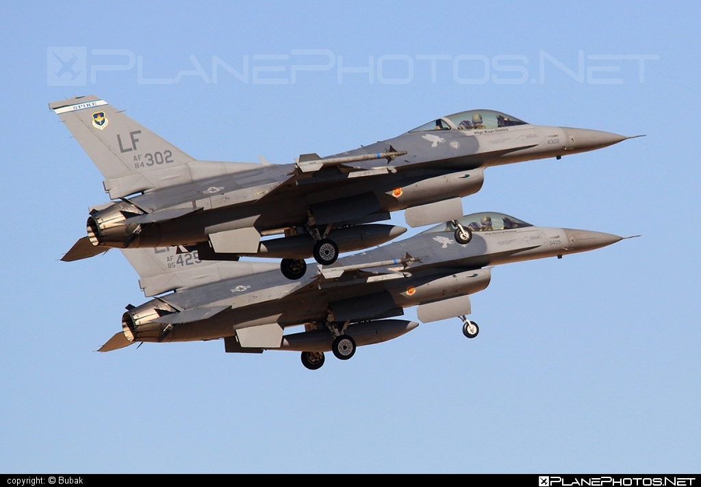 General Dynamics F-16C Fighting Falcon - 84-1302 operated by US Air Force (USAF) #f16 #f16c #fightingfalcon #generaldynamics #usaf #usairforce