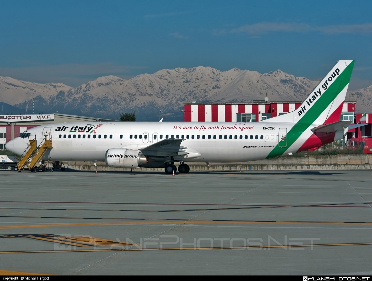 Boeing 737-400 - EI-COK operated by Air Italy #b737 #boeing #boeing737