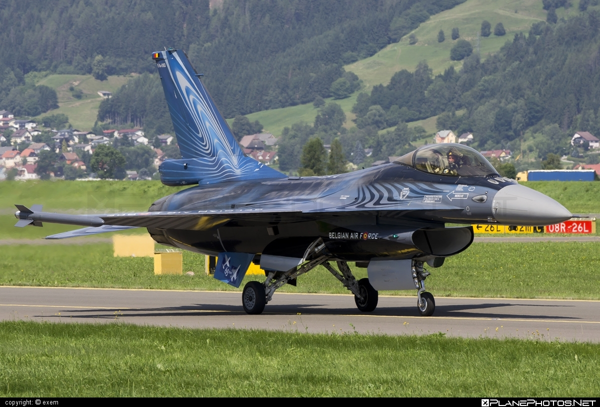 SABCA F-16AM Fighting Falcon - FA-110 operated by Luchtcomponent (Belgian Air Force) #belgianairforce #f16 #f16am #fightingfalcon #luchtcomponent #sabca