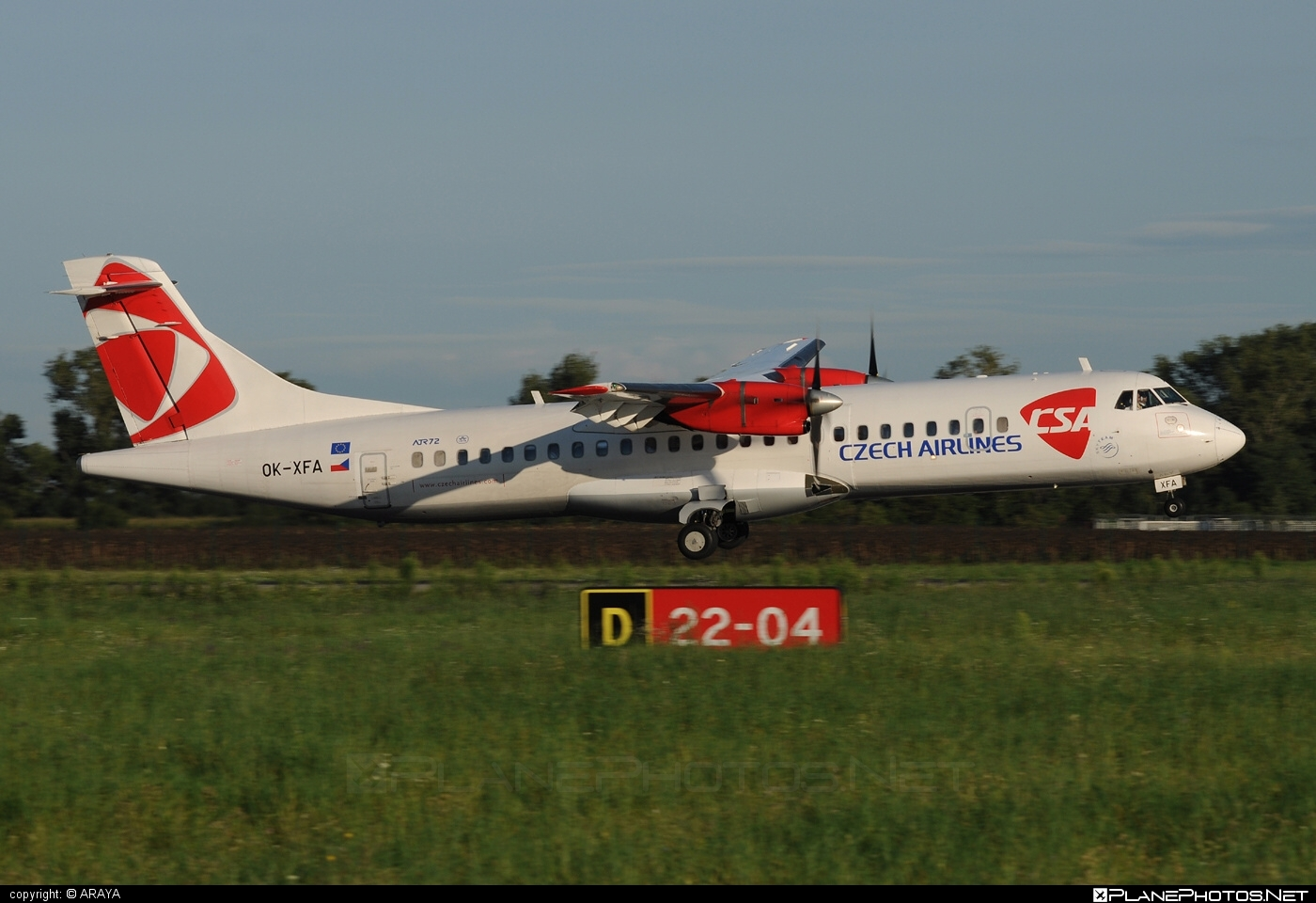 ATR 72-202 - OK-XFA operated by CSA Czech Airlines #atr #csa #czechairlines