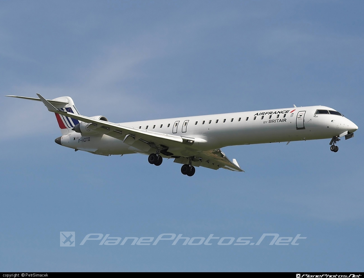 Bombardier CRJ900 - F-HDTB operated by Air France (Brit Air) #bombardier #crj900