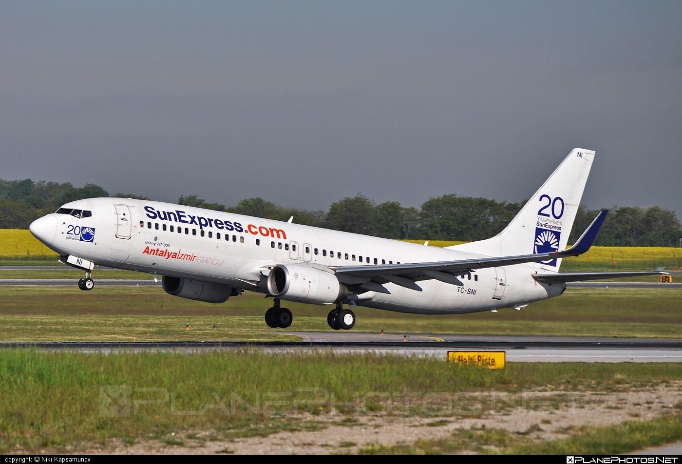 Boeing 737-800 - TC-SNI operated by SunExpress #b737 #b737nextgen #b737ng #boeing #boeing737 #sunexpress