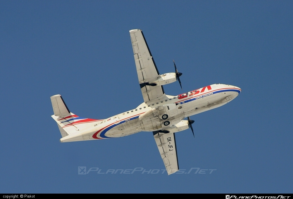 ATR 42-500 - OK-JFJ operated by CSA Czech Airlines #atr #atr42 #atr42500 #csa #czechairlines