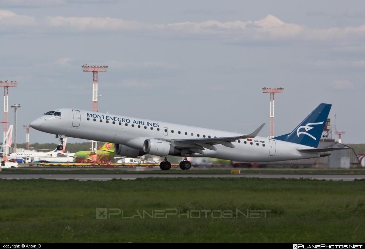 Embraer E195LR (ERJ-190-200LR) - 4O-AOC operated by Montenegro Airlines #e190 #e190200 #e190200lr #e195lr #embraer #embraer190200lr #embraer195 #embraer195lr