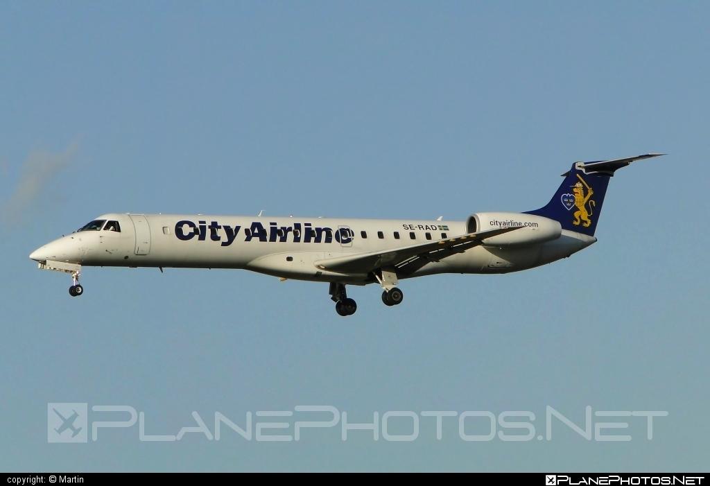 Embraer ERJ-145EU - SE-RAD operated by City Airline #embraer