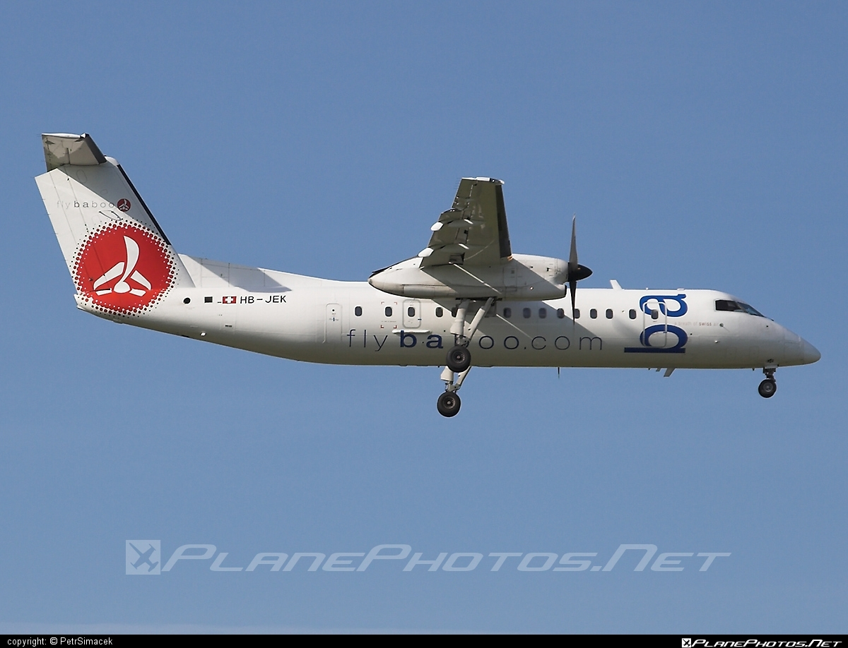 Bombardier DHC-8-315 Dash 8 - HB-JEK operated by Flybaboo #bombardier