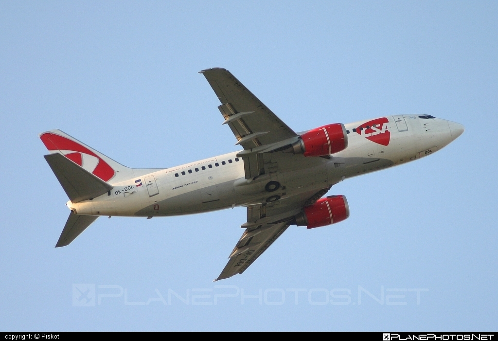 Boeing 737-500 - OK-DGL operated by CSA Czech Airlines #b737 #boeing #boeing737 #csa #czechairlines