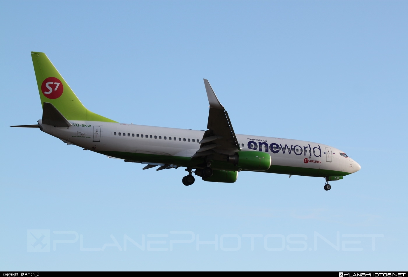 Boeing 737-800 - VQ-BKW operated by S7 Airlines #b737 #b737nextgen #b737ng #boeing #boeing737 #oneworld