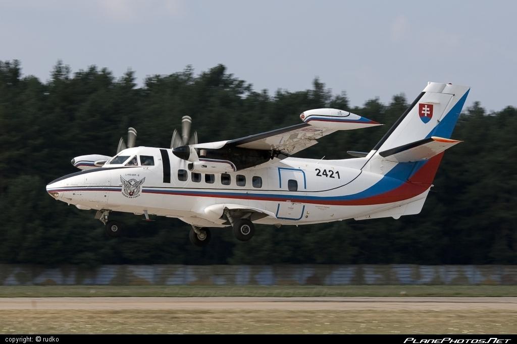 Let L-410UVP-E Turbolet - 2421 operated by Vzdušné sily OS SR (Slovak Air Force) #L410 #L410Turbolet #L410uvpe #L410uvpeTurbolet #let #slovakairforce #turbolet #vzdusnesilyossr