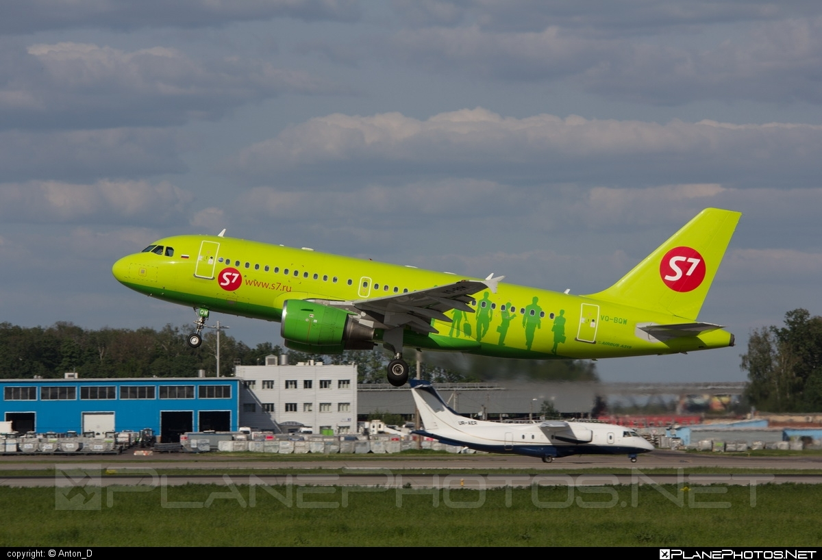 Airbus A319-115LR - VQ-BQW operated by S7 Airlines #a319 #a320family #airbus #airbus319
