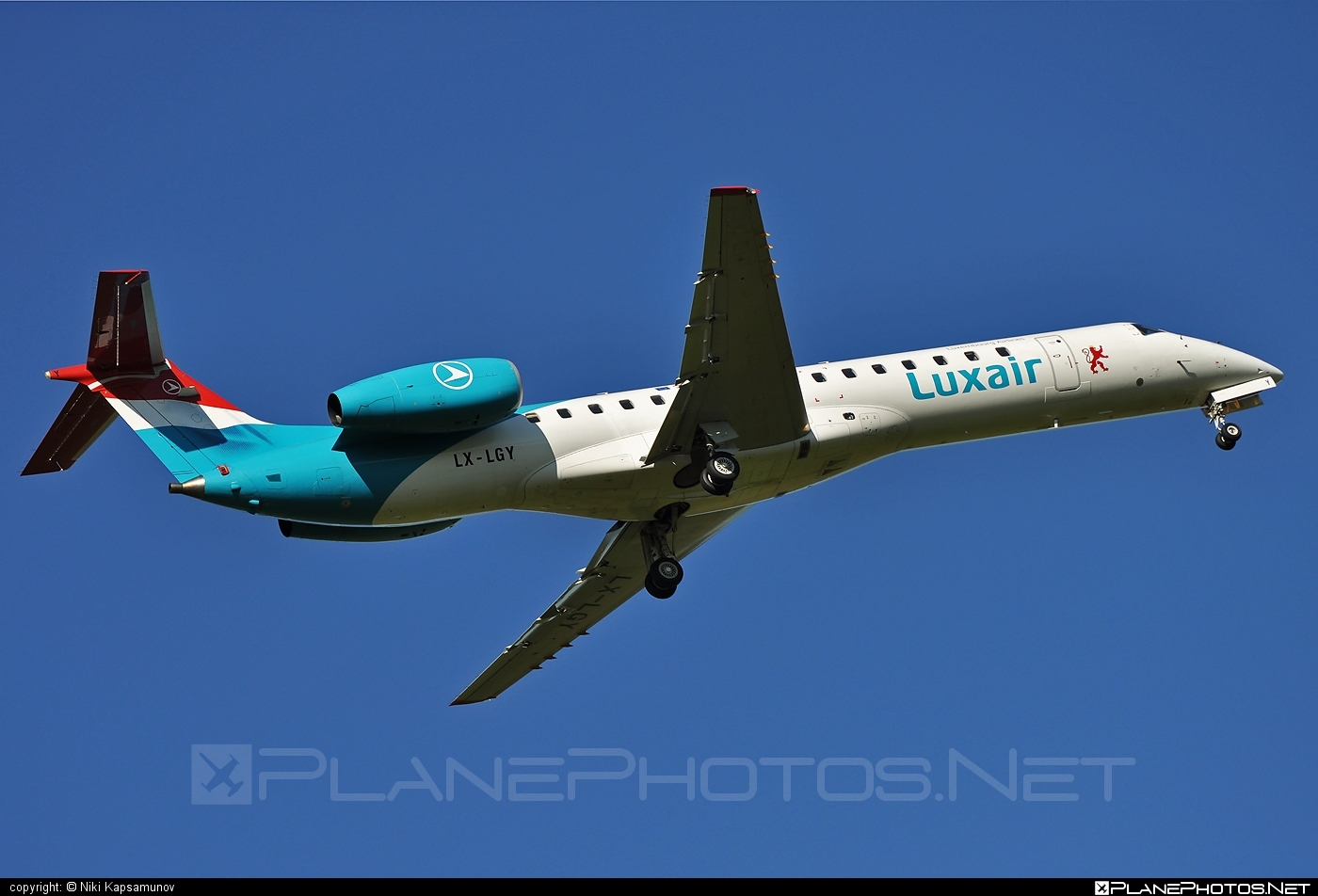 Embraer ERJ-145LU - LX-LGY operated by Luxair #embraer