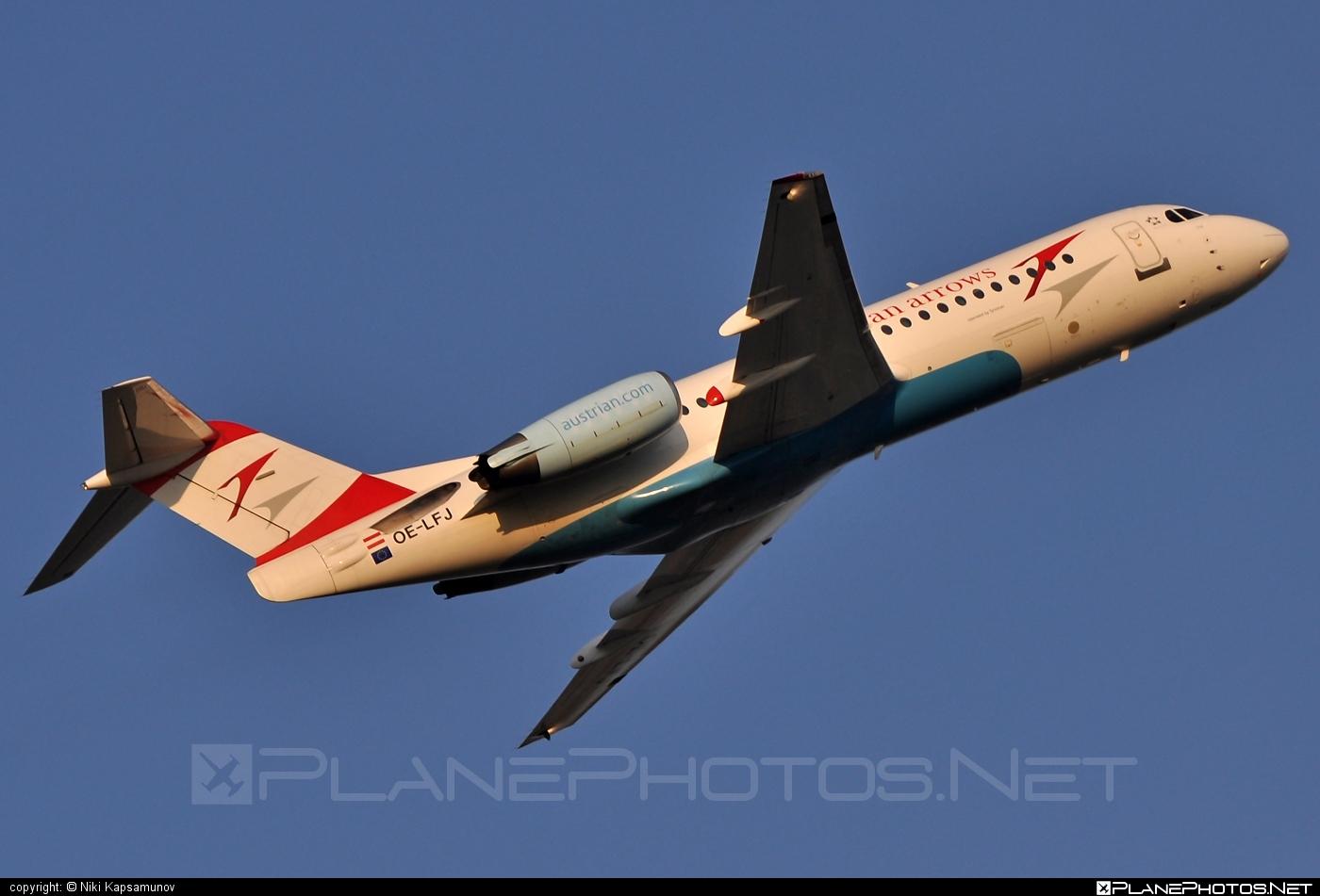 Fokker 70 - OE-LFJ operated by Austrian arrows (Tyrolean Airways) #fokker