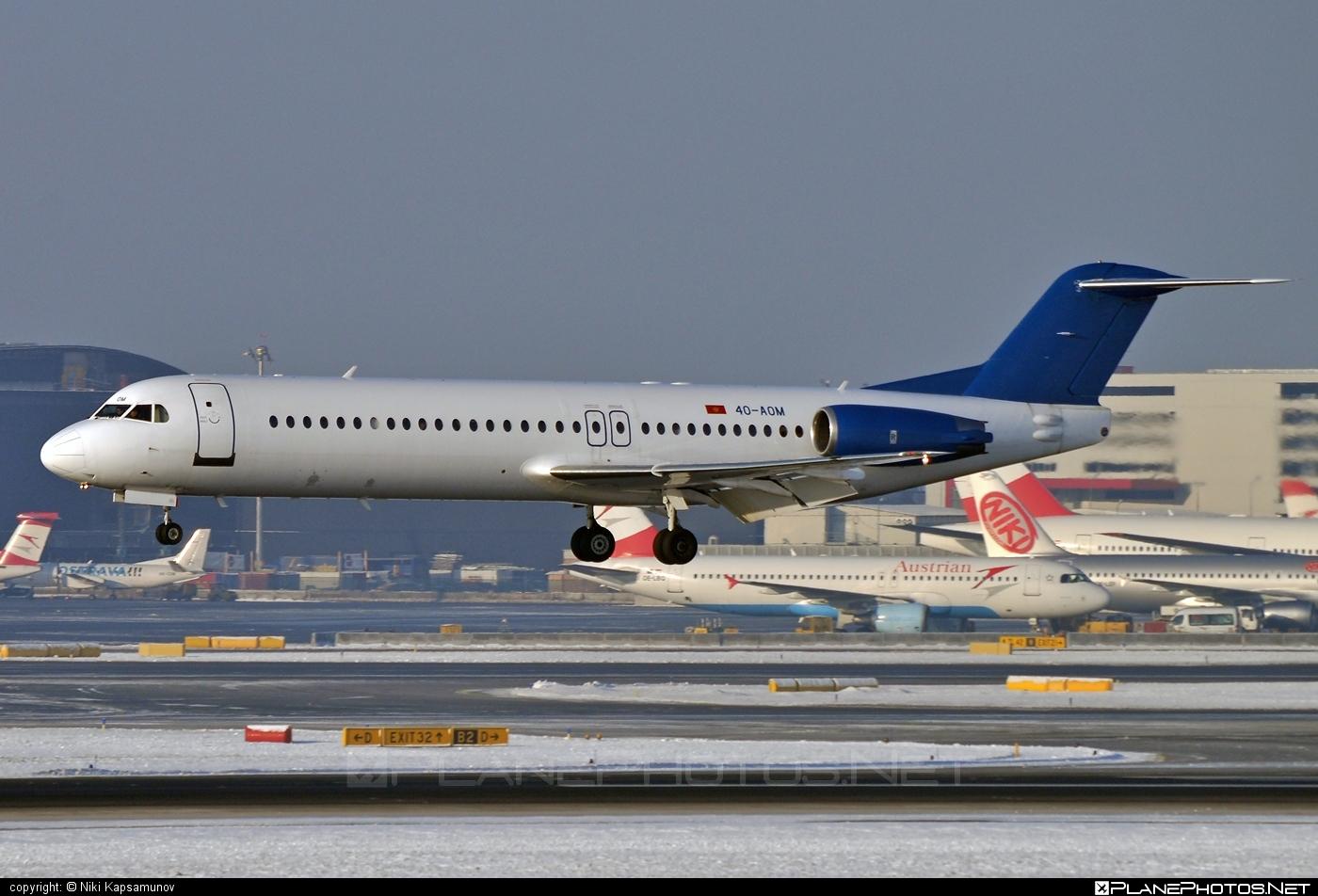 Fokker 100 - 4O-AOM operated by Montenegro Airlines #fokker #fokker100