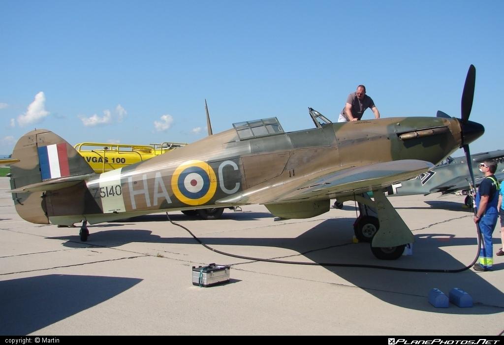Hawker Hurricane Mk.XIIA - G-HURI operated by Private operator #hawker