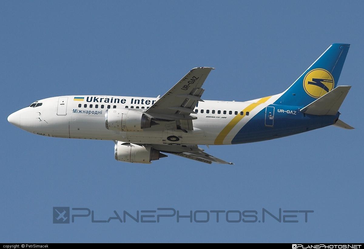 Boeing 737-500 - UR-GAZ operated by Ukraine International Airlines #b737 #boeing #boeing737 #uia #ukraineinternationalairlines