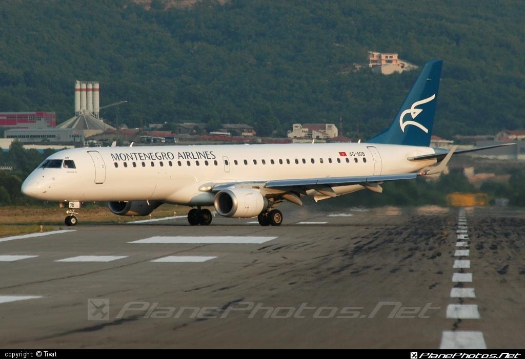 Embraer E195LR (ERJ-190-200LR) - 4O-AOB operated by Montenegro Airlines #e190 #e190200 #e190200lr #e195lr #embraer #embraer190200lr #embraer195 #embraer195lr