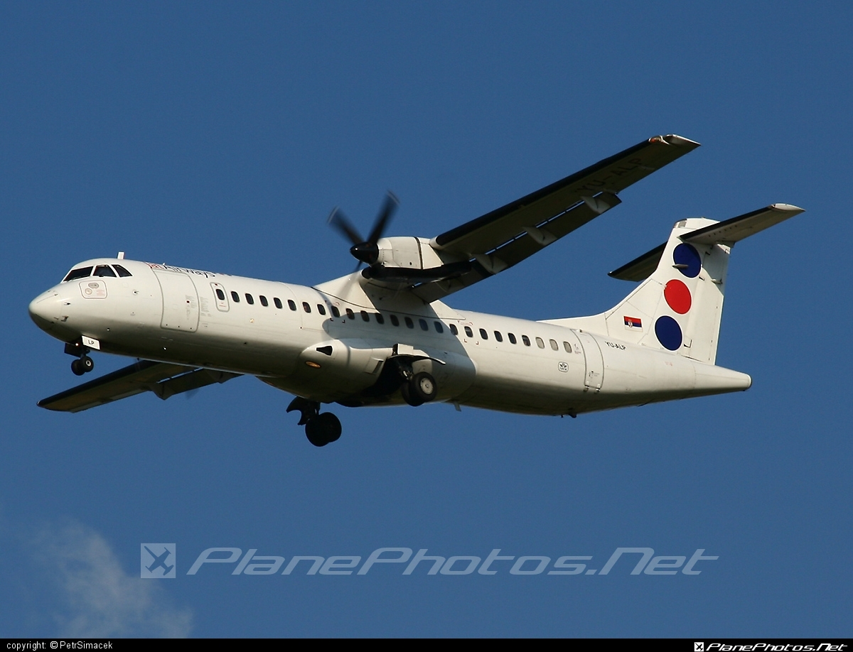 ATR 72-202 - YU-ALP operated by Jat Airways #atr
