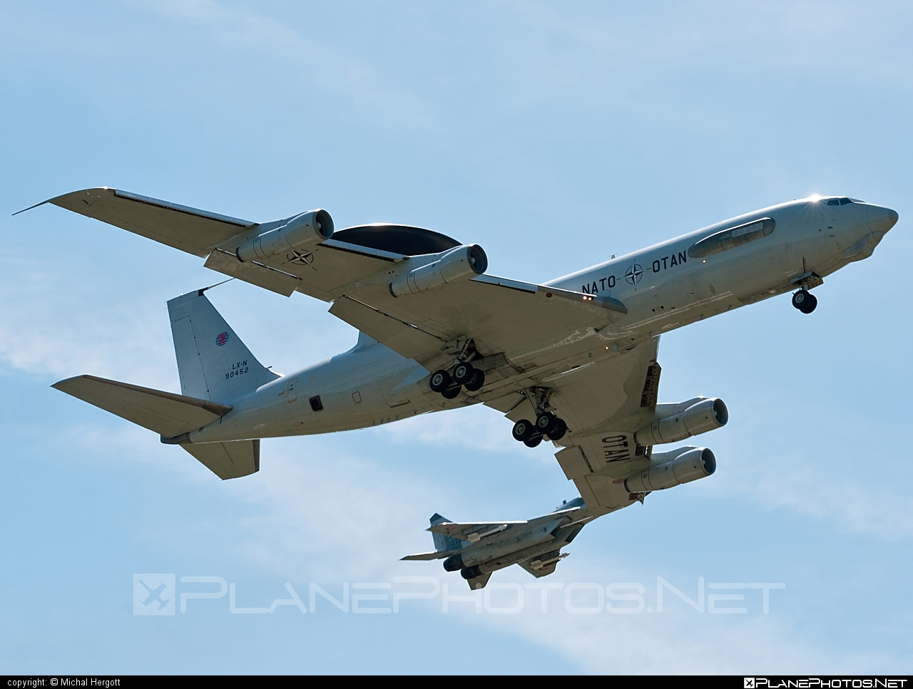 Boeing E-3A Sentry - LX-N90452 operated by NATO Airborne Early Warning & Control Force #boeing #naewcf #natoairborneearlywarning