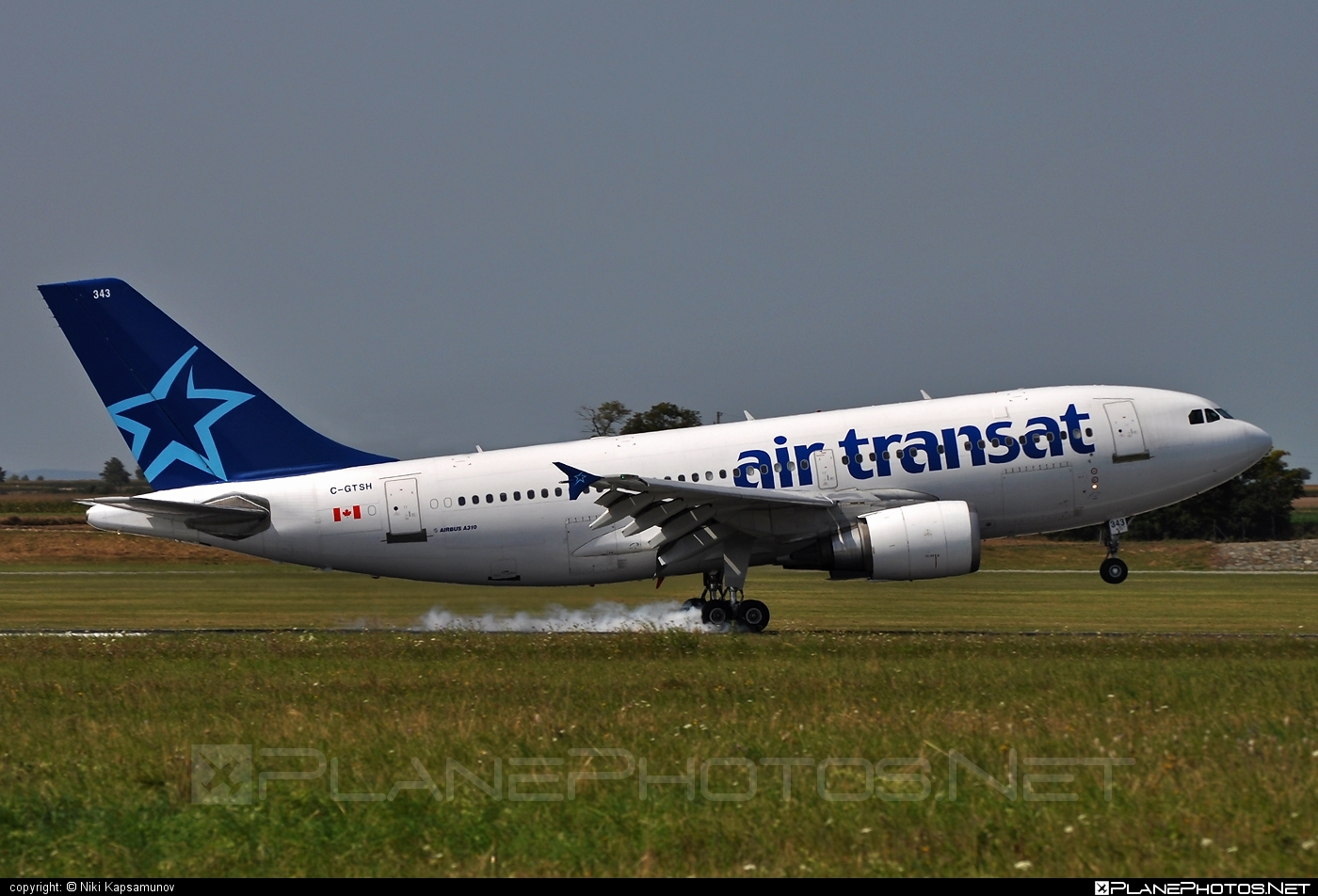 Airbus A310-304 - C-GTSH operated by Air Transat #a310 #airbus