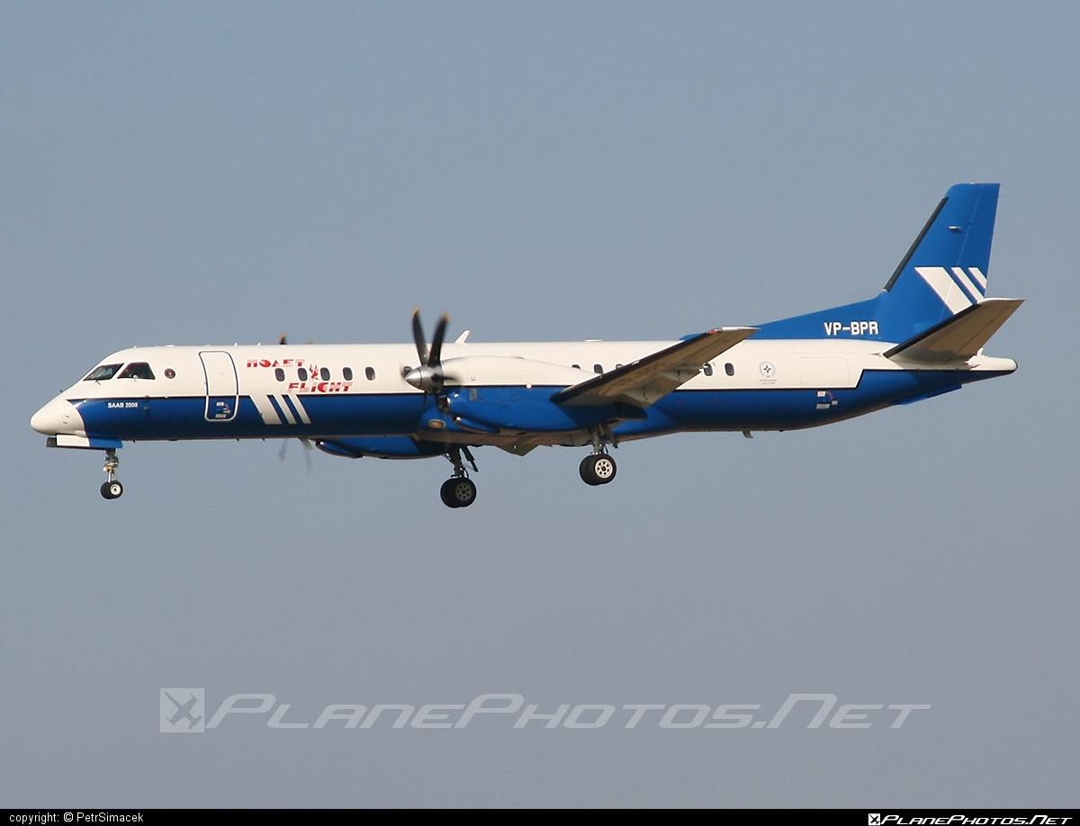 Saab 2000 - VP-BPR operated by Polet Flight #saab