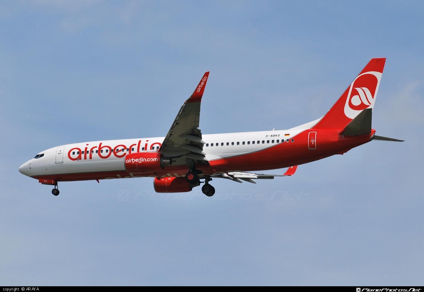 Boeing 737-800 - D-ABKG operated by Air Berlin #airberlin #b737 #b737nextgen #b737ng #boeing #boeing737