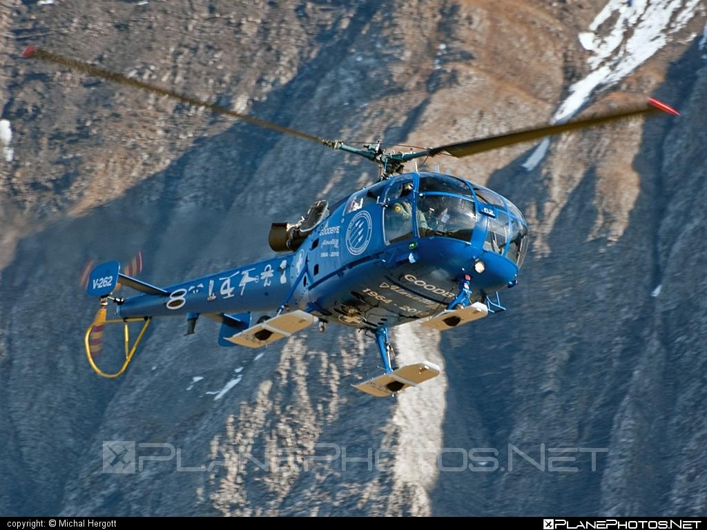 F+W Emmen SE-3160 Alouette III - V-262 operated by Schweizer Luftwaffe (Swiss Air Force) #schweizerluftwaffe #swissairforce