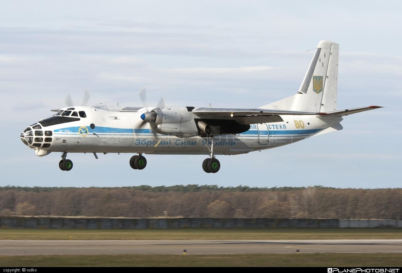 Antonov An-30B - 80 operated by Povitryani Syly Ukrayiny (Ukrainian Air Force) #an30 #an30b #antonov #antonov30 #povitryanisylyukrayiny #ukrainianairforce