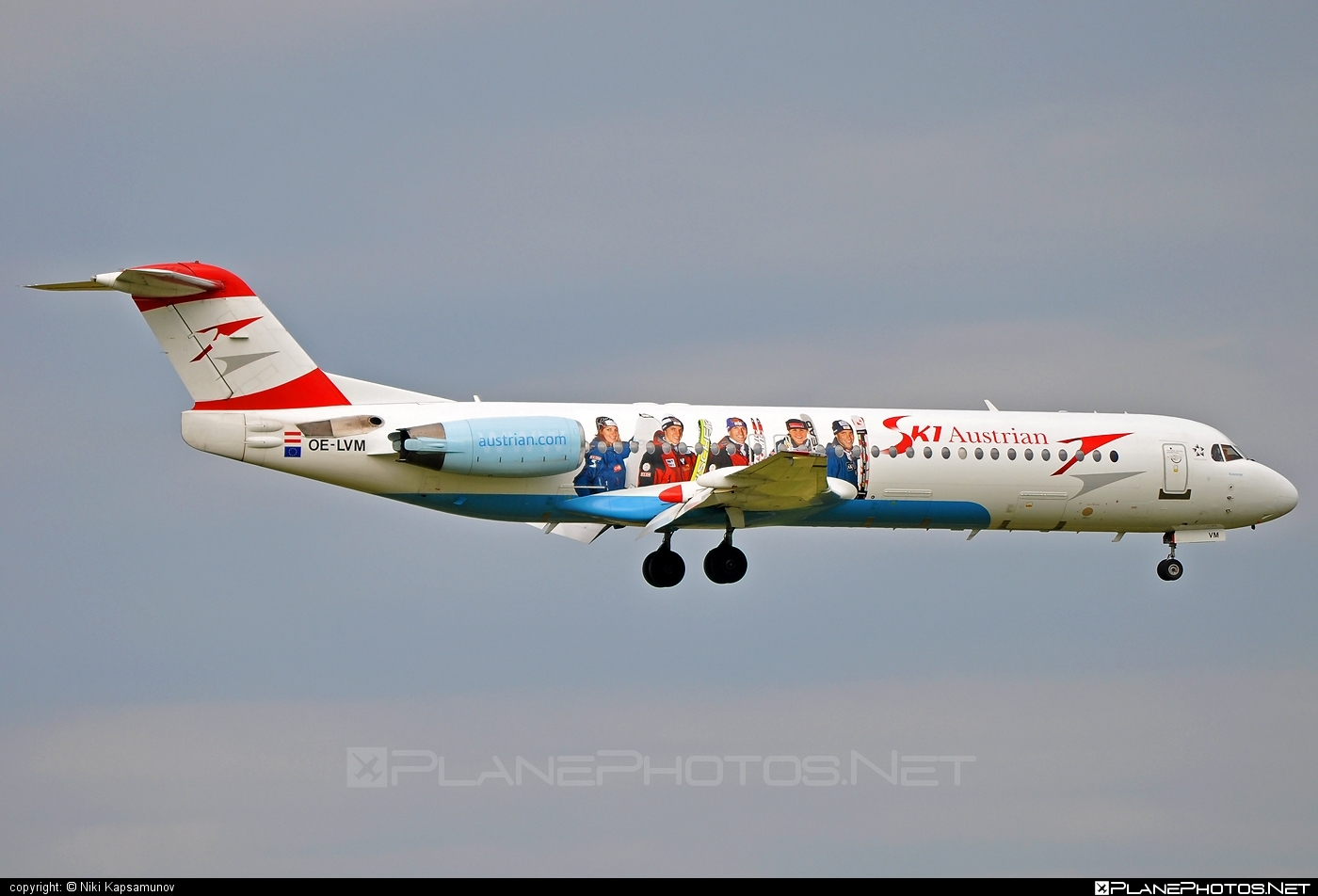 Fokker 100 - OE-LVM operated by Austrian arrows (Tyrolean Airways) #fokker