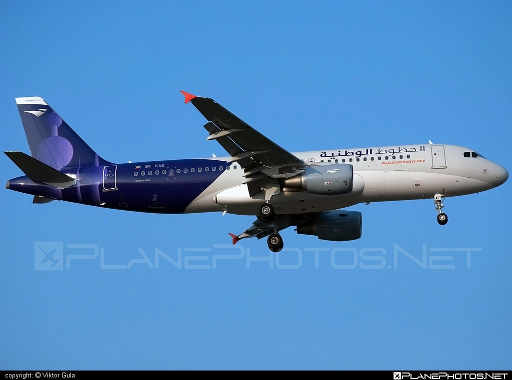 Airbus A320-214 - 9K-EAE operated by Wataniya Airways #a320 #a320family #airbus #airbus320