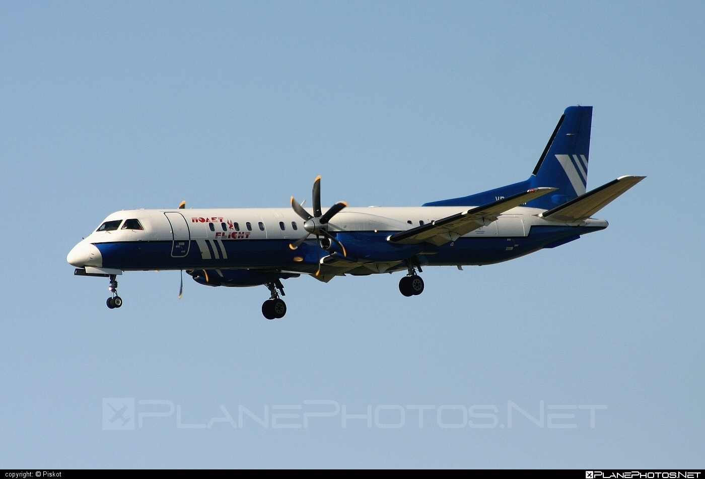Saab 2000 - VP-BPM operated by Polet Flight #saab