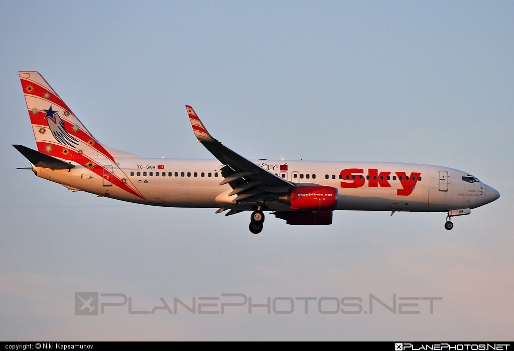 Boeing 737-800 - TC-SKR operated by Sky Airlines #b737 #b737nextgen #b737ng #boeing #boeing737