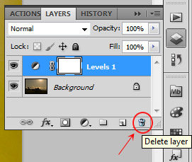 Delete layer